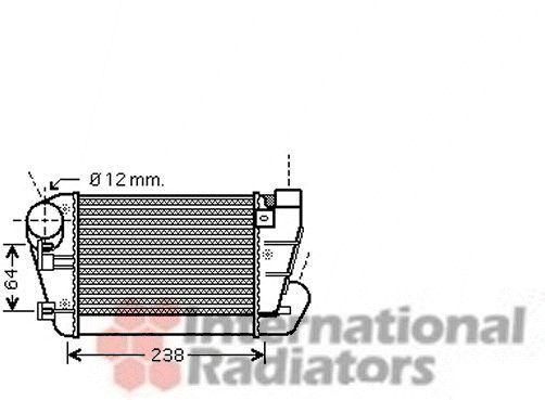 Intercooler, échangeur - VAN WEZEL - 03004250