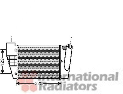 Intercooler, échangeur - VAN WEZEL - 03004251