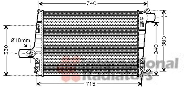 Intercooler, échangeur - VAN WEZEL - 03004259