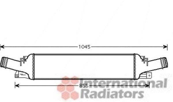 Intercooler, échangeur - VAN WEZEL - 03004294