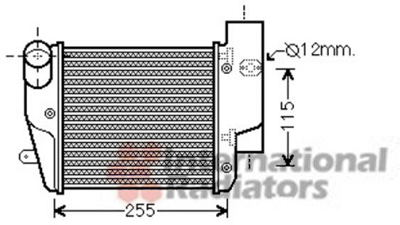 Intercooler, échangeur - VAN WEZEL - 03004302