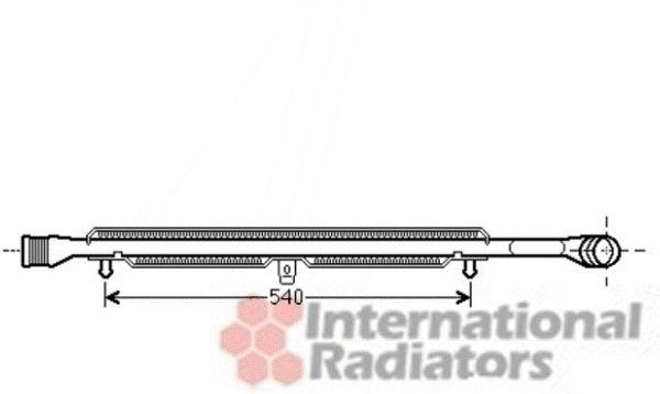 Intercooler, échangeur - VAN WEZEL - 03004305