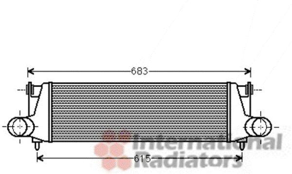 Intercooler, échangeur - VAN WEZEL - 03004307
