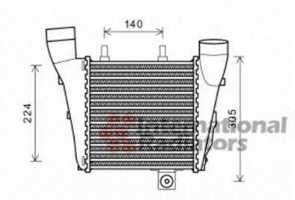 Intercooler, échangeur - VWA - 88VWA03004320