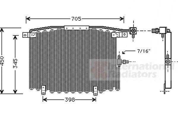 Condenseur, climatisation - VAN WEZEL - 03005115