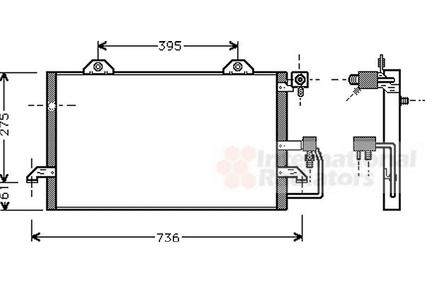 Condenseur, climatisation - VWA - 88VWA03005121
