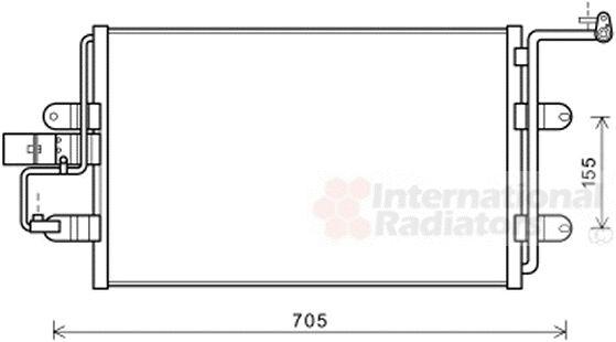 Condenseur, climatisation - VAN WEZEL - 03005130