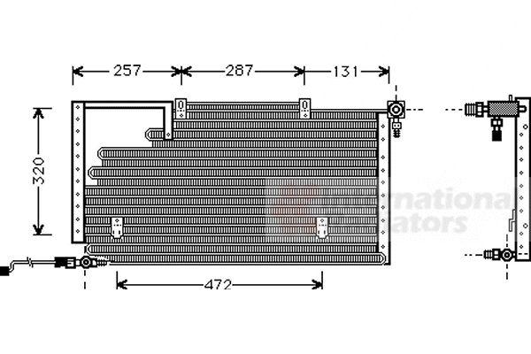 Condenseur, climatisation - VAN WEZEL - 03005138