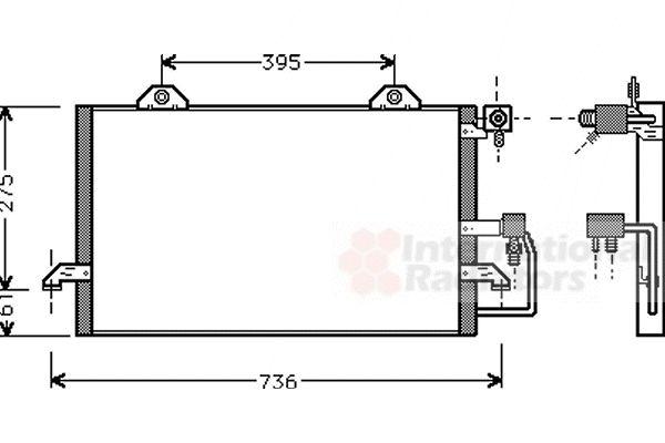 Condenseur, climatisation - VAN WEZEL - 03005159