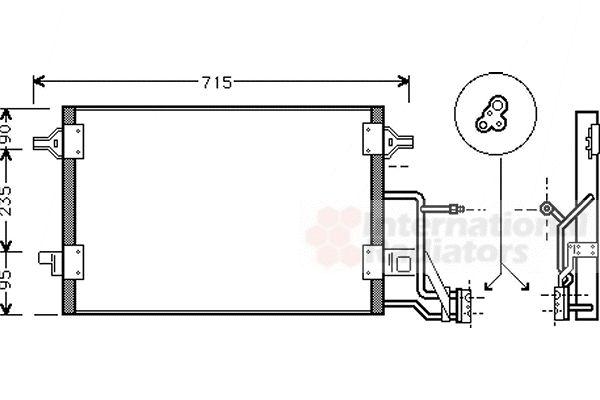 Condenseur, climatisation - VAN WEZEL - 03005173