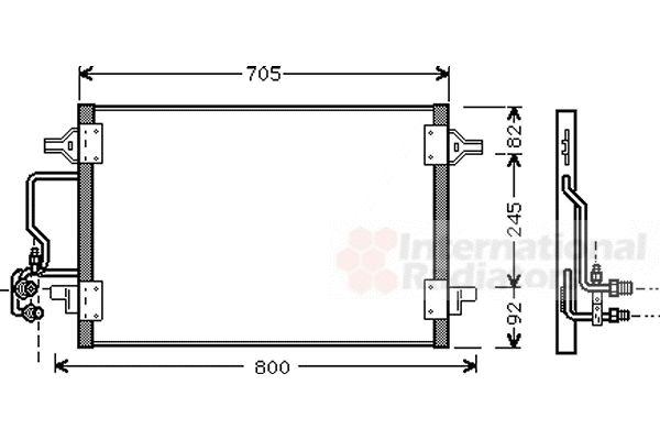 Condenseur, climatisation - VAN WEZEL - 03005175