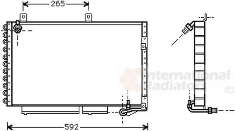 Condenseur, climatisation - VAN WEZEL - 03005184
