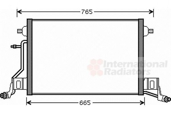 Condenseur, climatisation - VAN WEZEL - 03005264