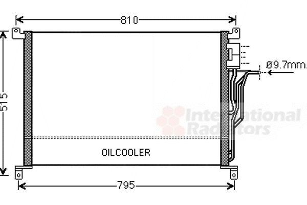 Condenseur, climatisation - VAN WEZEL - 03005301