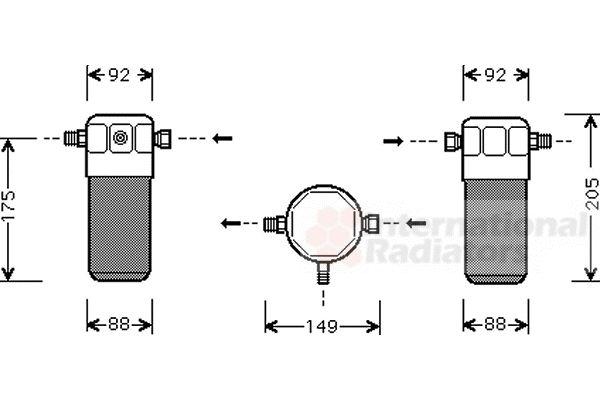 Filtre déshydratant, climatisation - VAN WEZEL - 0300D032