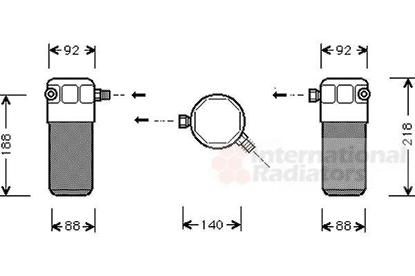 Filtre déshydratant, climatisation - VWA - 88VWA0300D152