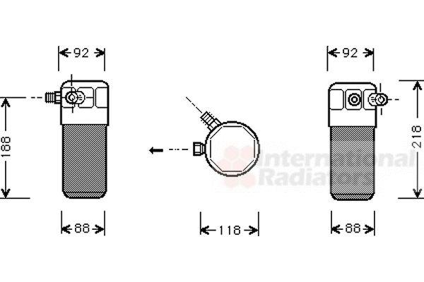 Filtre déshydratant, climatisation - VAN WEZEL - 0300D153