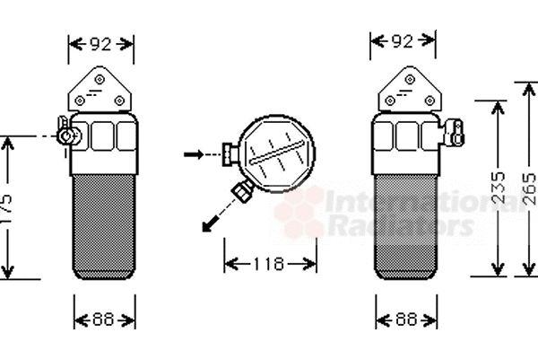 Filtre déshydratant, climatisation - VWA - 88VWA0300D260