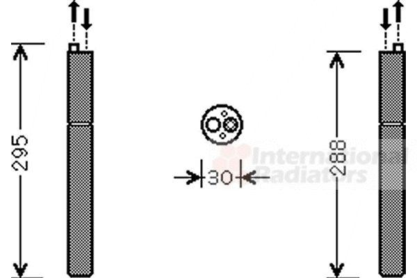 Filtre déshydratant, climatisation - VAN WEZEL - 0300D298