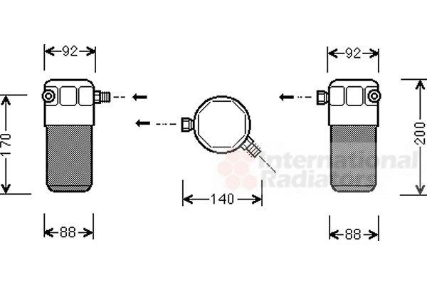 Filtre déshydratant, climatisation - VWA - 88VWA0300D303