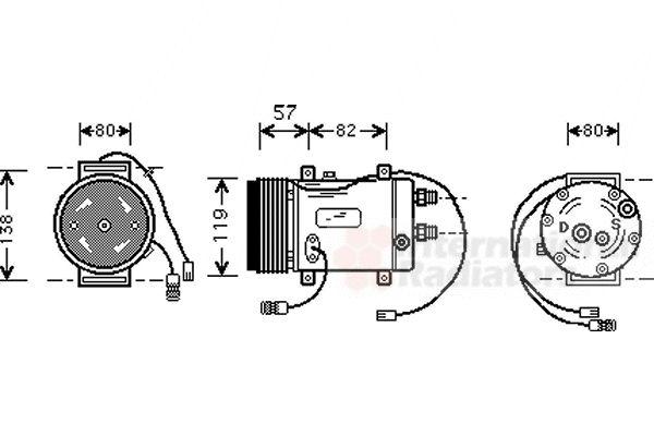 Compresseur, climatisation - VWA - 88VWA0300K008