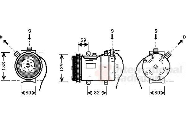 Compresseur, climatisation - VWA - 88VWA0300K009