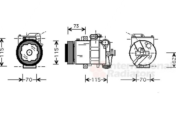 Compresseur, climatisation - VAN WEZEL - 0300K014