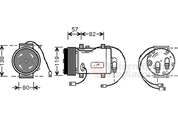 Compresseur, climatisation - VWA - 88VWA0300K143
