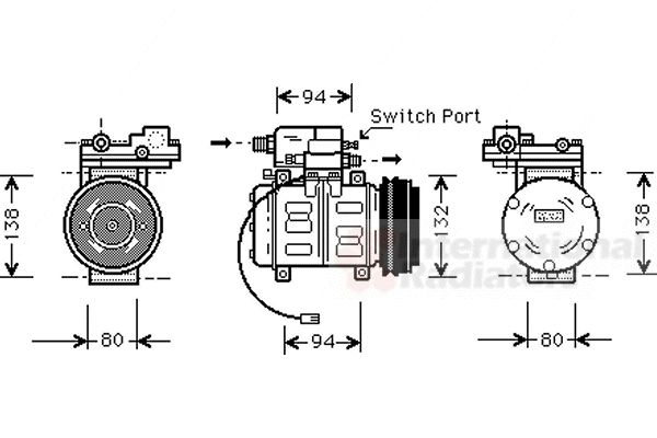 Compresseur, climatisation - VAN WEZEL - 0300K181