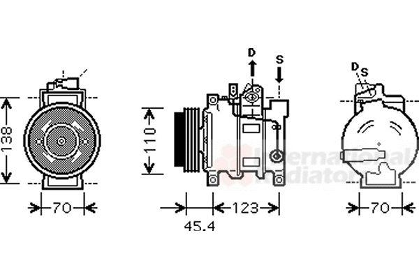 Compresseur, climatisation - VAN WEZEL - 0300K227