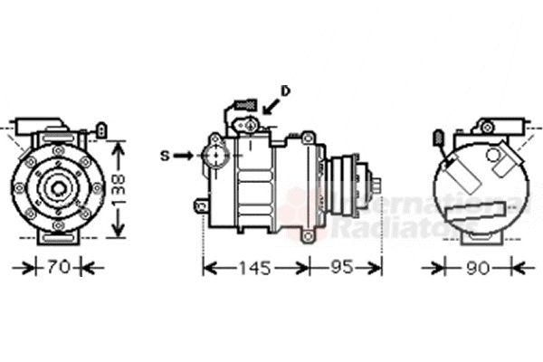 Compresseur, climatisation - VWA - 88VWA0300K267
