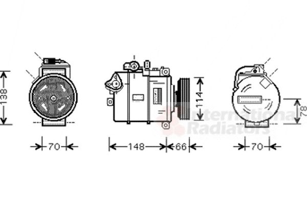Compresseur, climatisation - VAN WEZEL - 0300K275