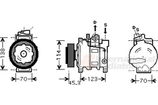 Compresseur, climatisation - VWA - 88VWA0300K276