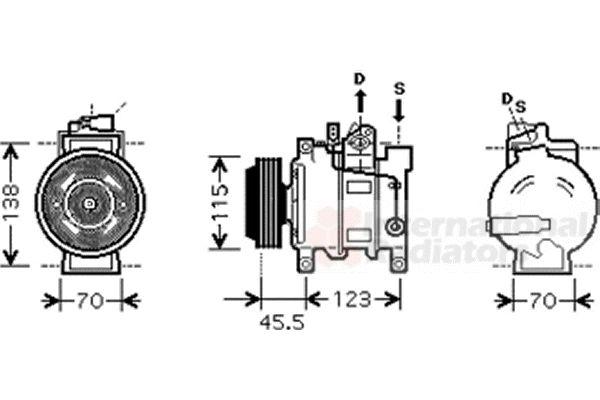 Compresseur, climatisation - VWA - 88VWA0300K281