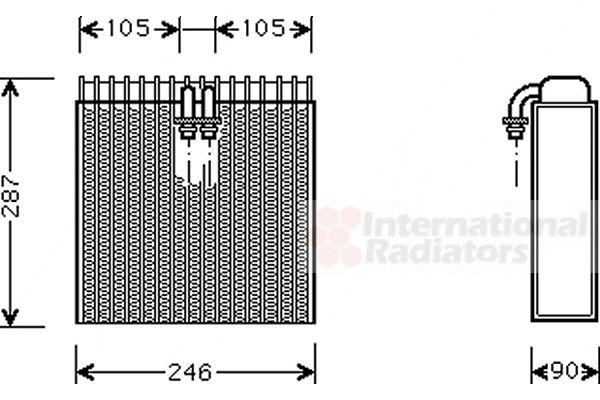 Evaporateur climatisation - VWA - 88VWA0300V031