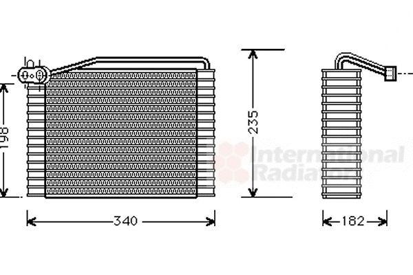 Evaporateur climatisation - VAN WEZEL - 0300V142