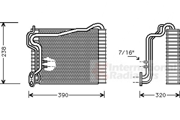 Evaporateur climatisation - VWA - 88VWA0300V145