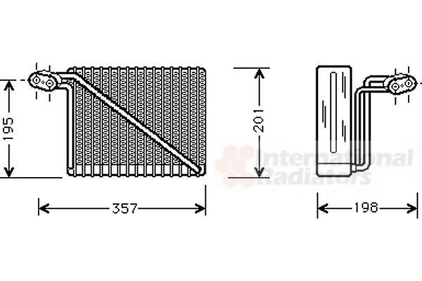 Evaporateur climatisation - VAN WEZEL - 0300V148