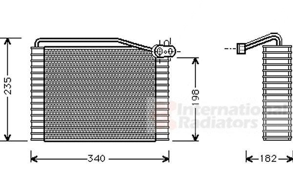Evaporateur climatisation - VAN WEZEL - 0300V149