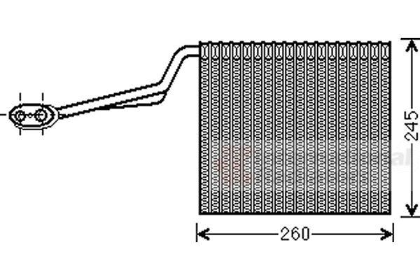 Evaporateur climatisation - VAN WEZEL - 0300V315