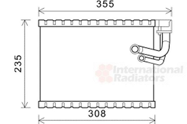 Evaporateur climatisation - VAN WEZEL - 0300V326