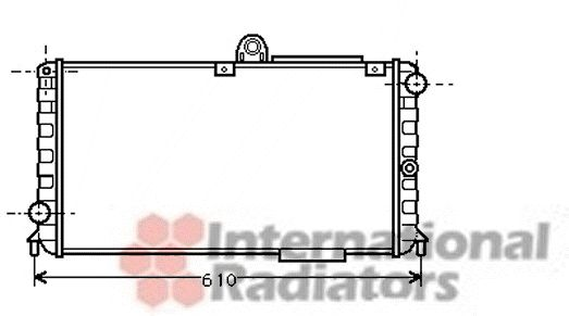 Radiateur, refroidissement du moteur - VAN WEZEL - 01002005