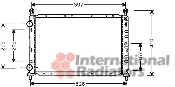 Radiateur, refroidissement du moteur - VAN WEZEL - 01002020