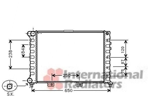 Radiateur, refroidissement du moteur - VAN WEZEL - 01002029