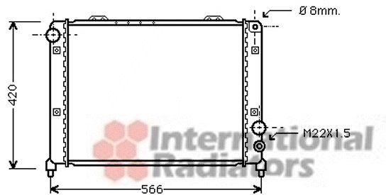 Radiateur, refroidissement du moteur - VAN WEZEL - 01002035