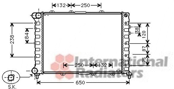 Radiateur, refroidissement du moteur - VWA - 88VWA01002038