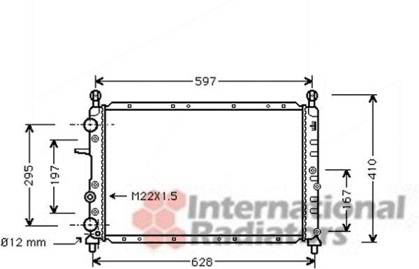 Radiateur, refroidissement du moteur - VAN WEZEL - 01002051