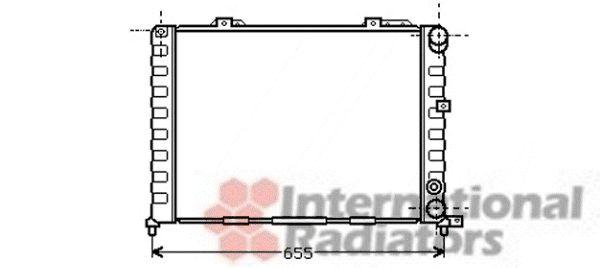 Radiateur, refroidissement du moteur - VAN WEZEL - 01002052