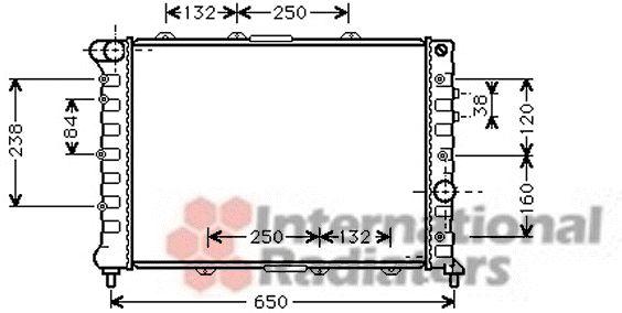 Radiateur, refroidissement du moteur - VAN WEZEL - 01002057