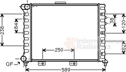 Radiateur, refroidissement du moteur - VAN WEZEL - 01002069
